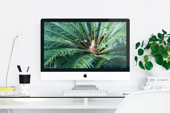 Apple Imac 27 Desktop Mockup Photo Apple Desktop Imac Mockup