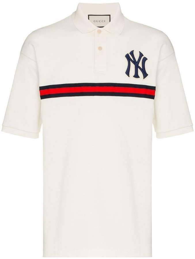 f18fe6b2f Gucci Men's Polo With NY Yankees™ Patch | Products | Polo, Gucci men ...