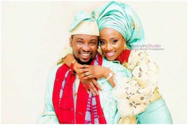 Beautiful Yoruba Wedding Attire In Green And Gold Love The Contrast Red Scarcf Which Matches