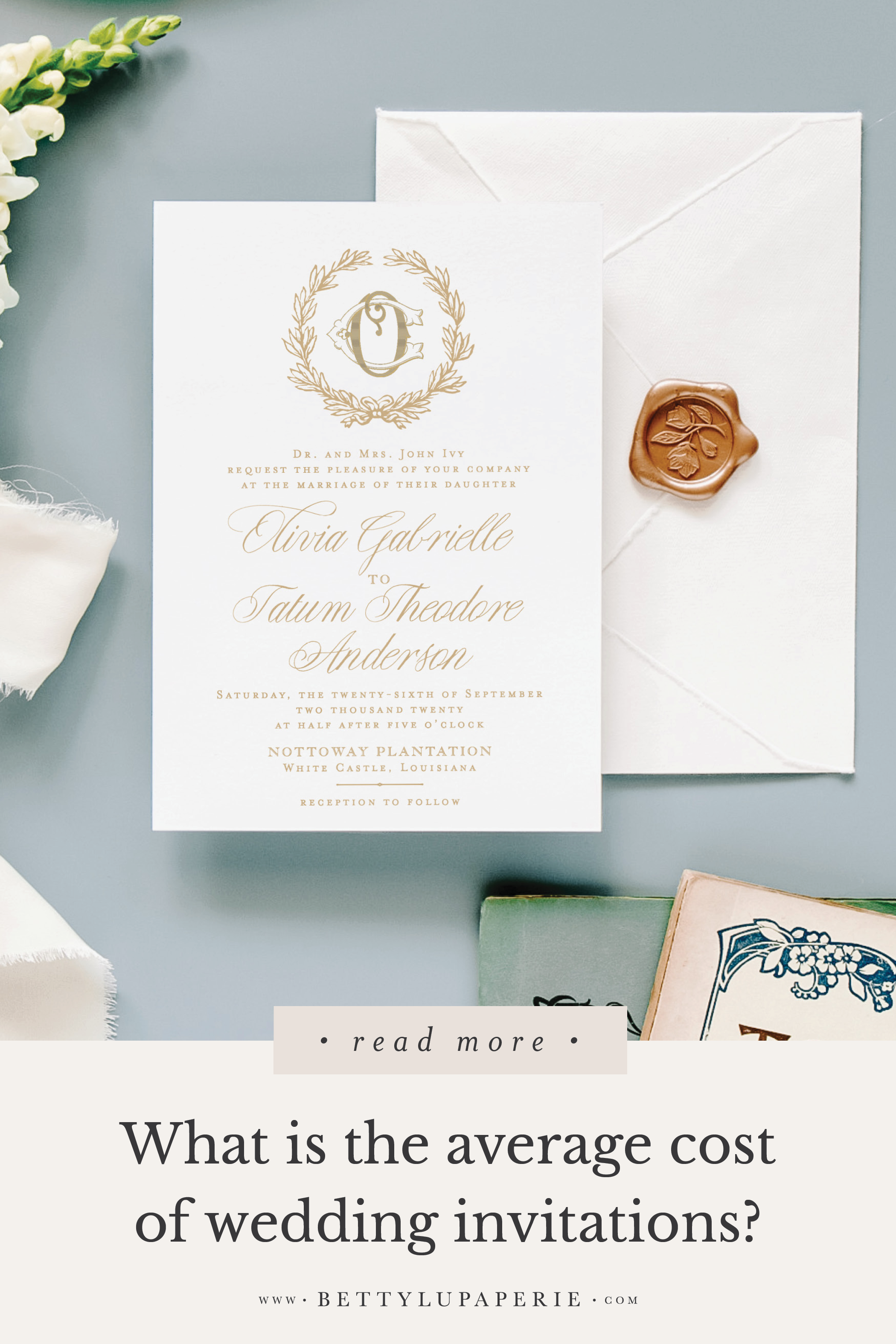 What Is The Average Cost Of Wedding Invitations Floral Wedding Invitations From Betty Lu Paperie Wedding Invitations Wedding Invitation Etiquette Cheap Wedding Invitations