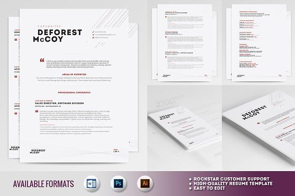 Resume Template  Primus By Resume Templates On Creativemarket