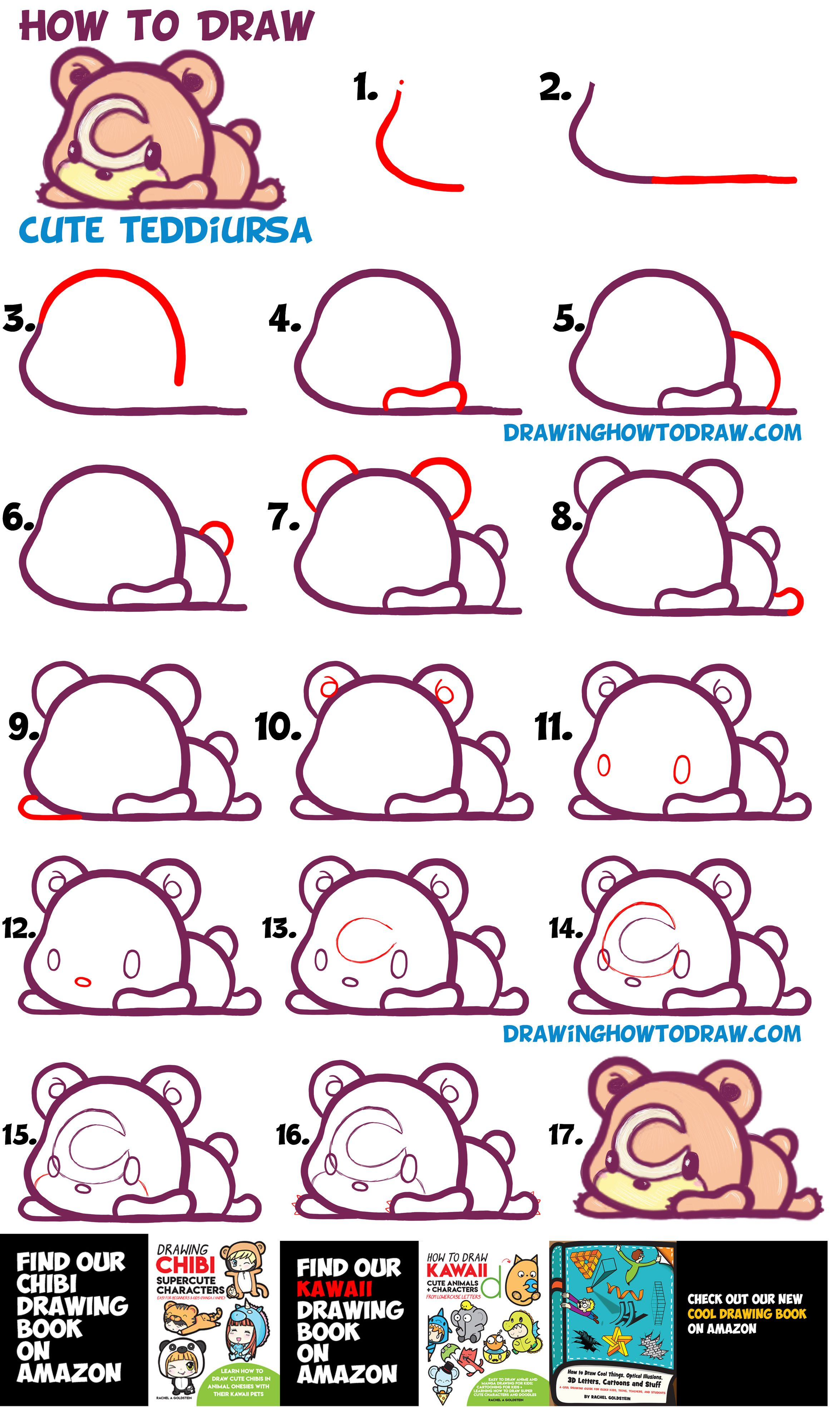 How To Draw Cute Teddiursa Pokemon With Easy Step By Step Drawing Tutorial For Kids Beginners How To Draw Step By Step Drawing Tutorials Drawing Tutorials For Kids Cute