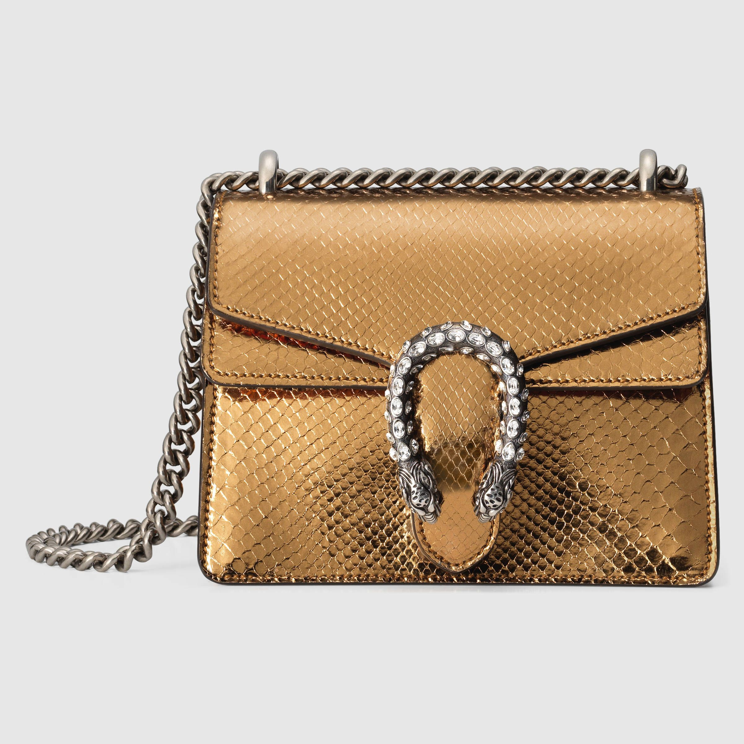 Gucci Dionysus gold python mini shoulder bag with horse shoe for luck.  Enjoy RUSHWORLD boards c9687a9f82be