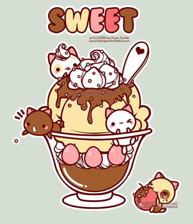 Sweet Kittens by *MoogleGurl on deviantART Kawaii sweets