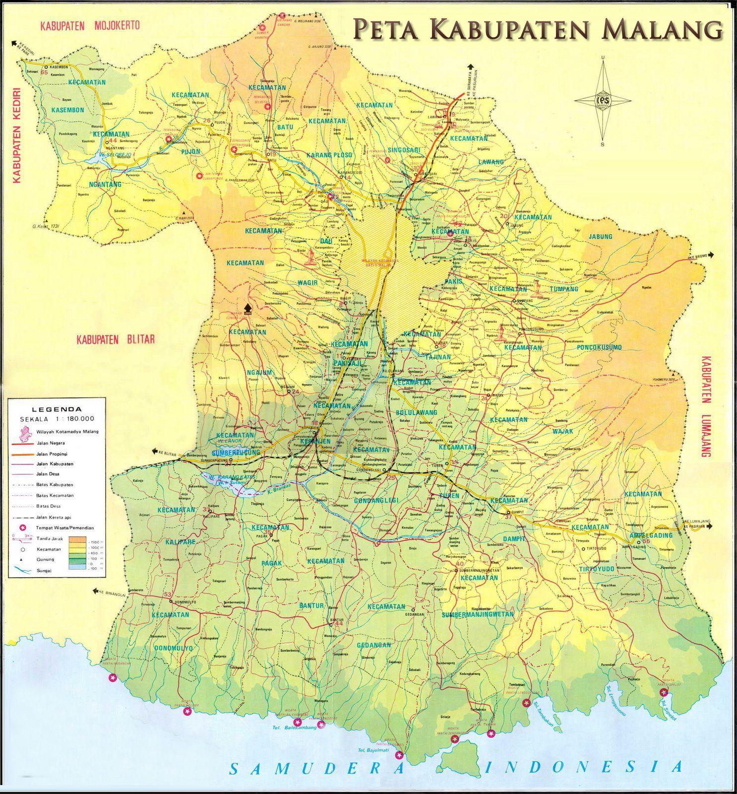 Peta Kabupaten Malang PROFIL Pinterest Malang