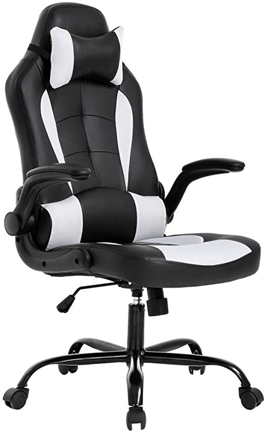 Amazon Com Bestoffice Pc Gaming Chair Ergonomic Office Chair Desk Chair With Lumbar Support Flip Up Arms Hea In 2020 Gaming Chair Best Office Chair Comfy Office Chair