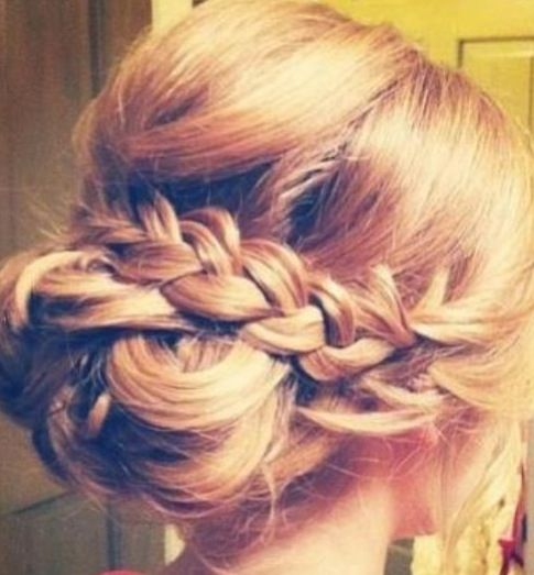 Up do with a simple braid