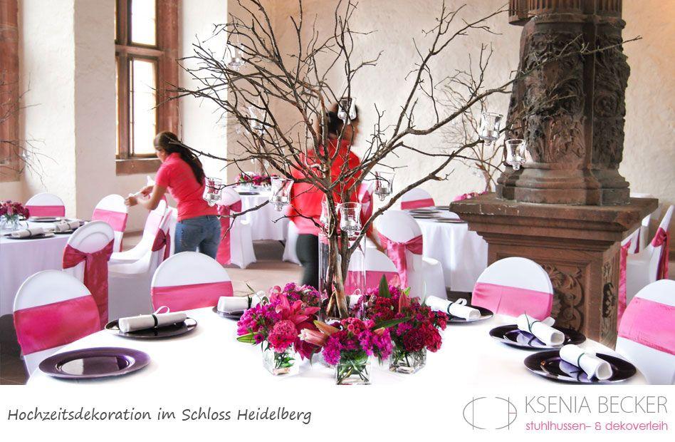 Schloss Heidelberg Hochzeitsdekoration Tischdekoration Mit Rosen Nelken Lilien Pfingstrosen Hochzeitsdekoration Hochzeit Blumenschmuck Hochzeit