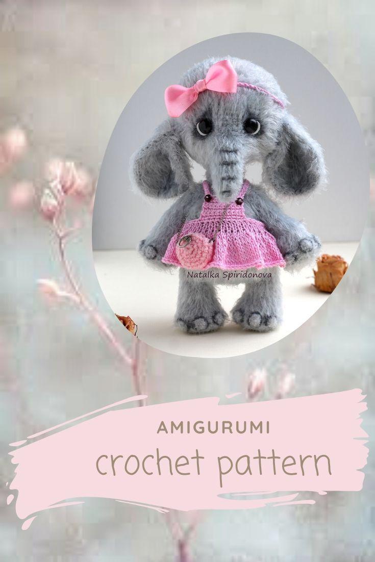 Crochet elephant PATTERN amigurumi, toy pattern, crochet toy pattern, pdf, animals pattern, tutorial