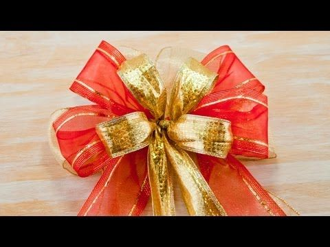 diy large triple bow for crafts holiday dcor needed 3 different ribbons