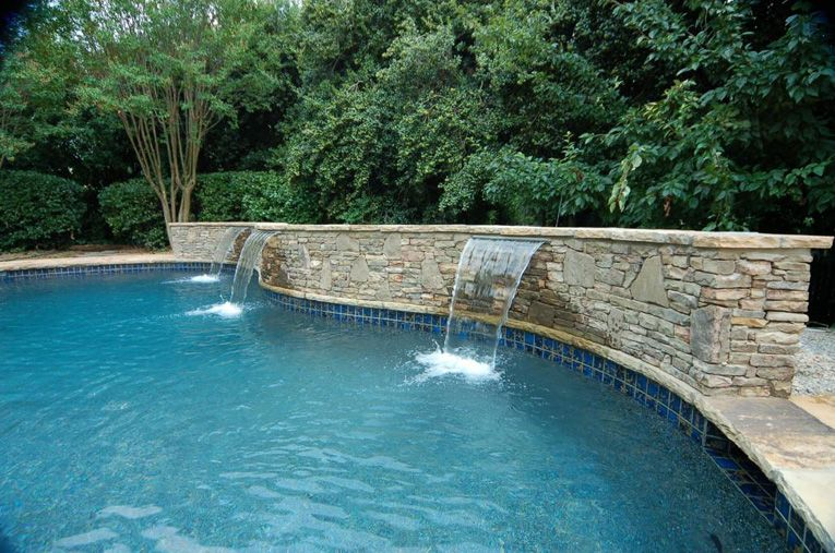 Swimming Pool Waterfall Designs interior designers have many swimming pool remodel ideas waterfall Pool Waterfall Construction Waterfall Design Atlanta Fountain Design Artisan Pools Artisan Pools