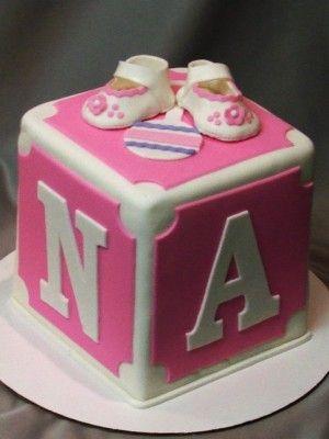 top baby blocks cakes  cakes for baby shower    koláče, Baby shower invitation