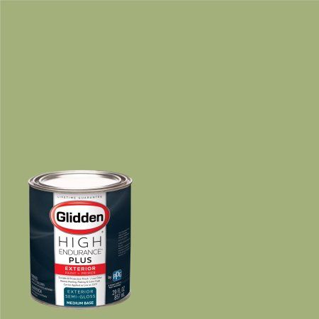 Glidden High Endurance Plus Exterior Paint and Primer, Green Sprout, #10GY 44/276