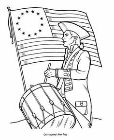 American Flag Revolutionary War Coloring Pages American Flag
