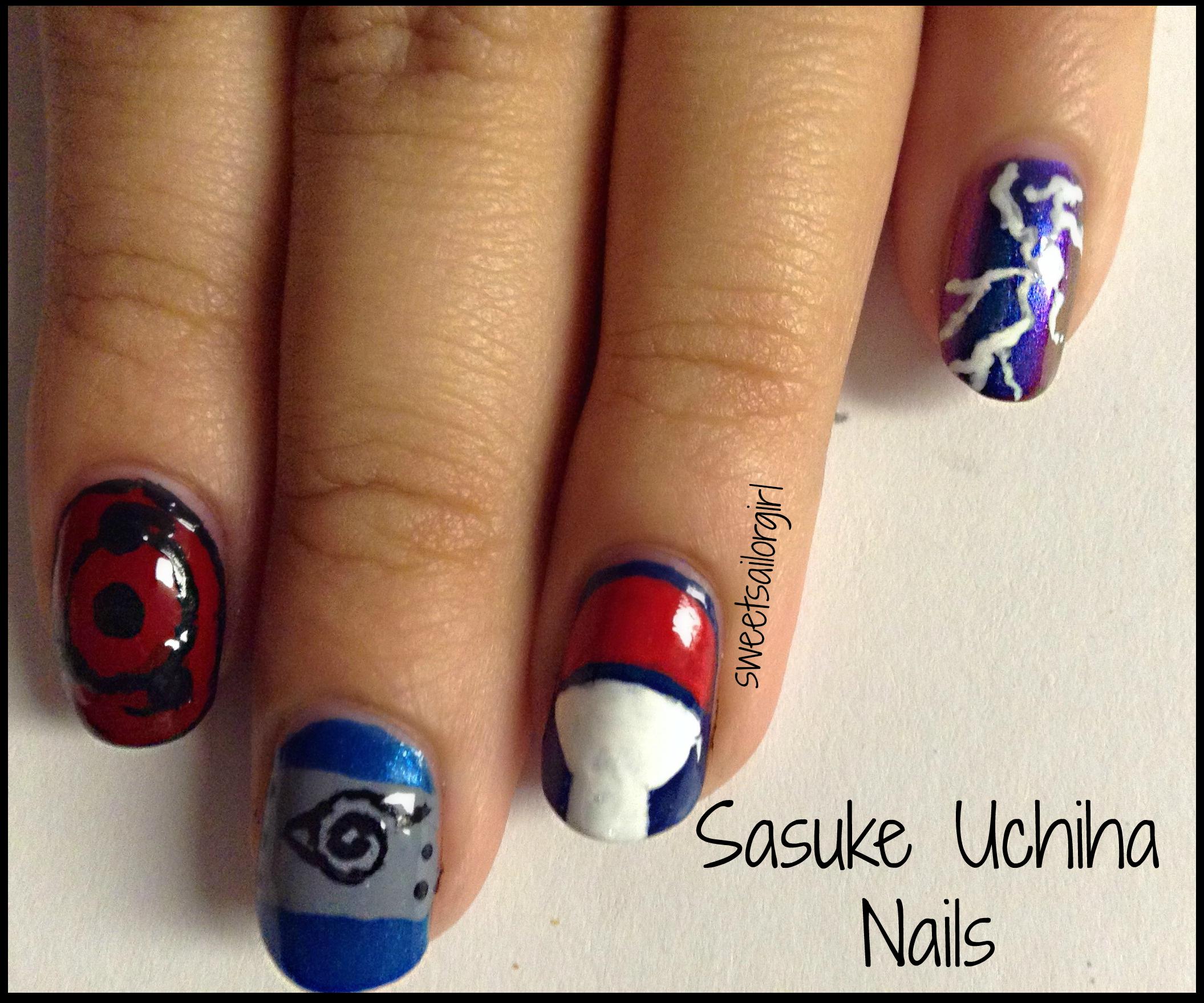 Sasuke Uchiha Nail Art | Uchiha | Pinterest | Sasuke uchiha, Sasuke ...