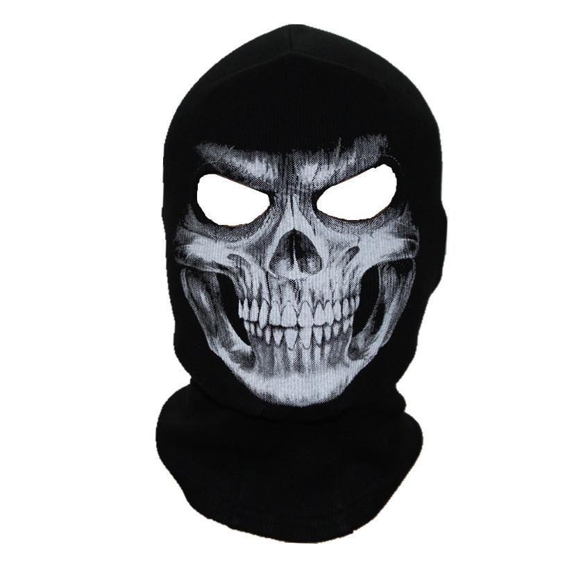 Skull Face Mask, Black Mask, White Face Mask