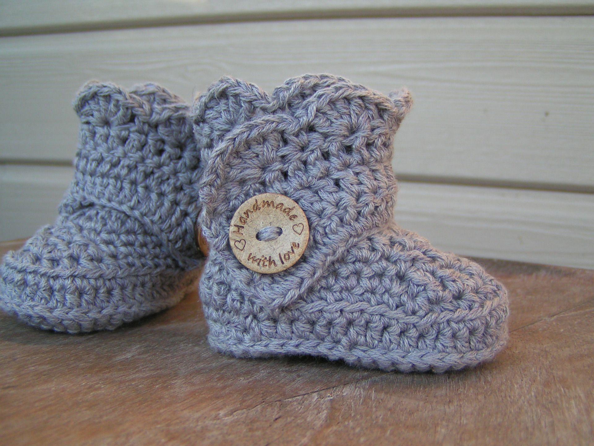 Conception innovante 8c664 156f7 chaussons/ bottes au crochet 3/6 mois : Mode Bébé par une ...