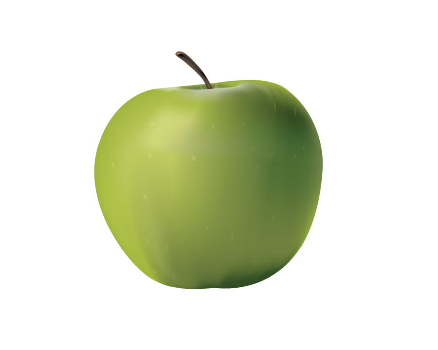 PNG GREEN APPLE by on