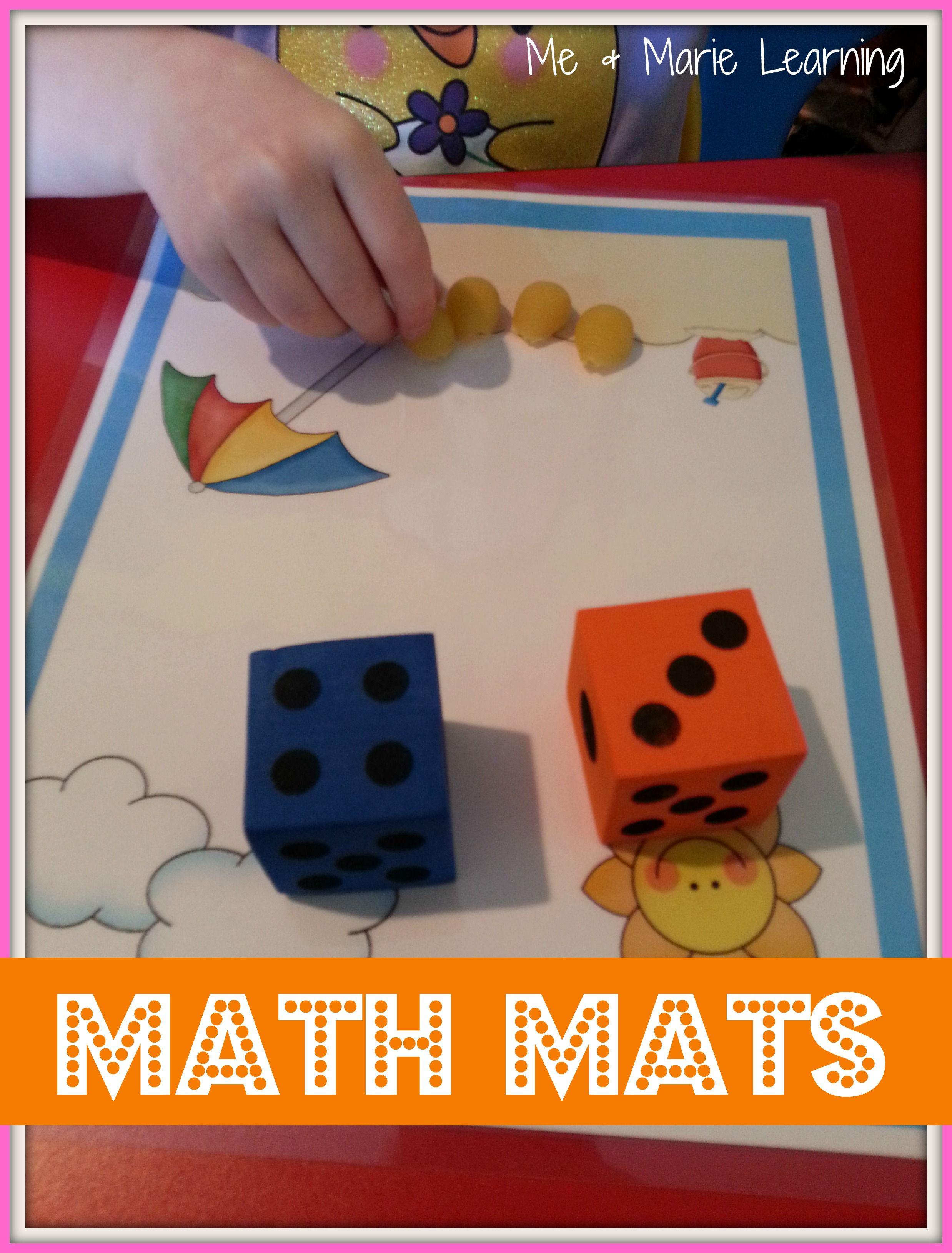Count Add Subtract Math Mats
