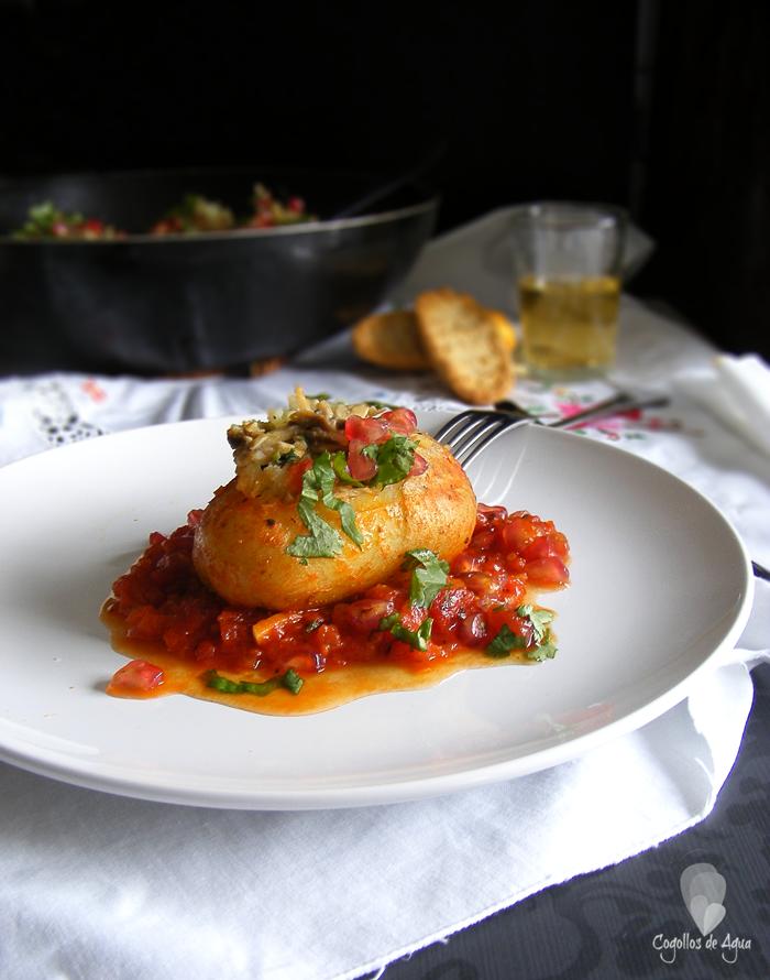 Cocinar Champiñon | Patatas Rellenas De Champinon Recetas Para Cocinar Pinterest