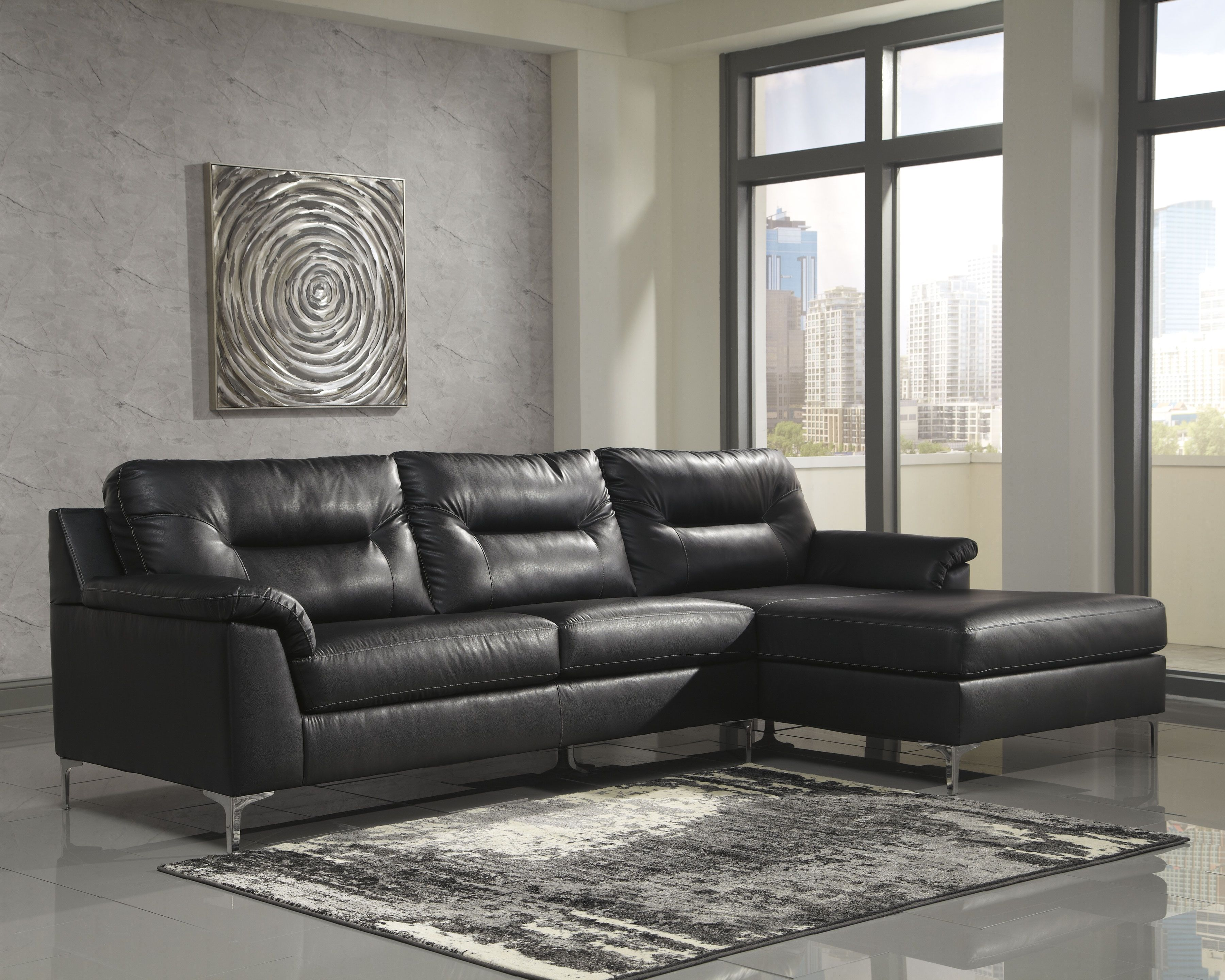 Best Tensas 2 Piece Sectional Black Products In 2019 400 x 300