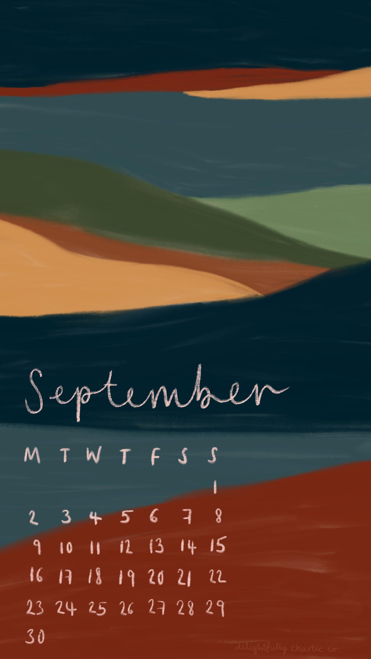 Free 2019 printable calendar September calendar