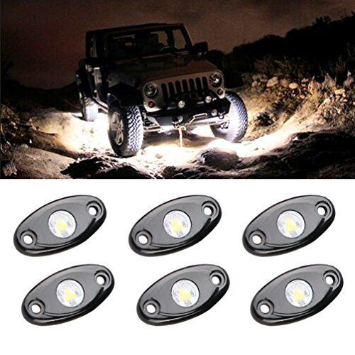 RGB LED Rock Lights 8 Pod Lights Multicolor Neon Lights Under Off Road Truck SUV ATV