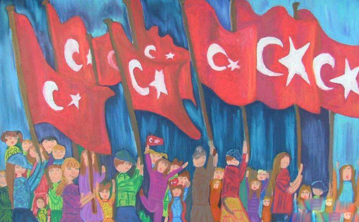 Ataturk Panosundaki Pin