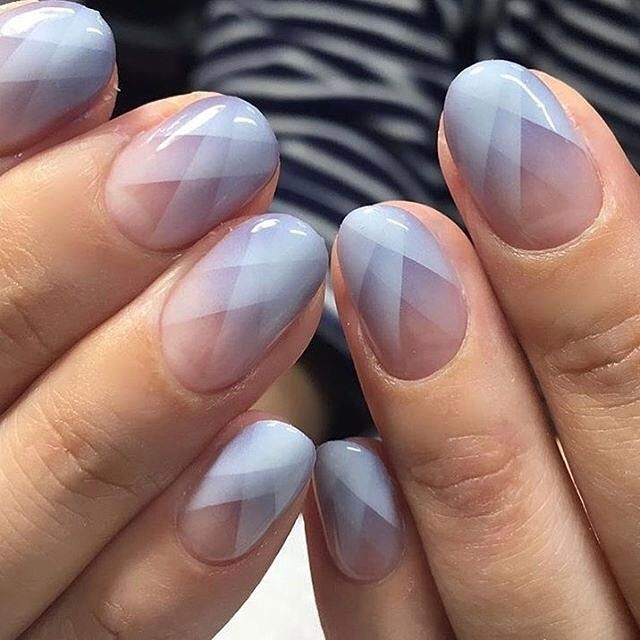 geometric ombre mani - ideas for by @yvrsk.a (@prayforinspiration ...