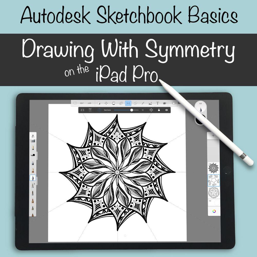 Symmetry On The Ipad In Autodesk Sketchbook Autodesk Sketchbook