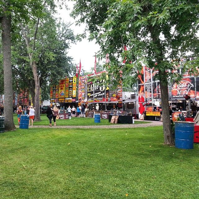 Lakeview Park has a COMPLETELY different vibe on Ribfest Weekend!  September 2014