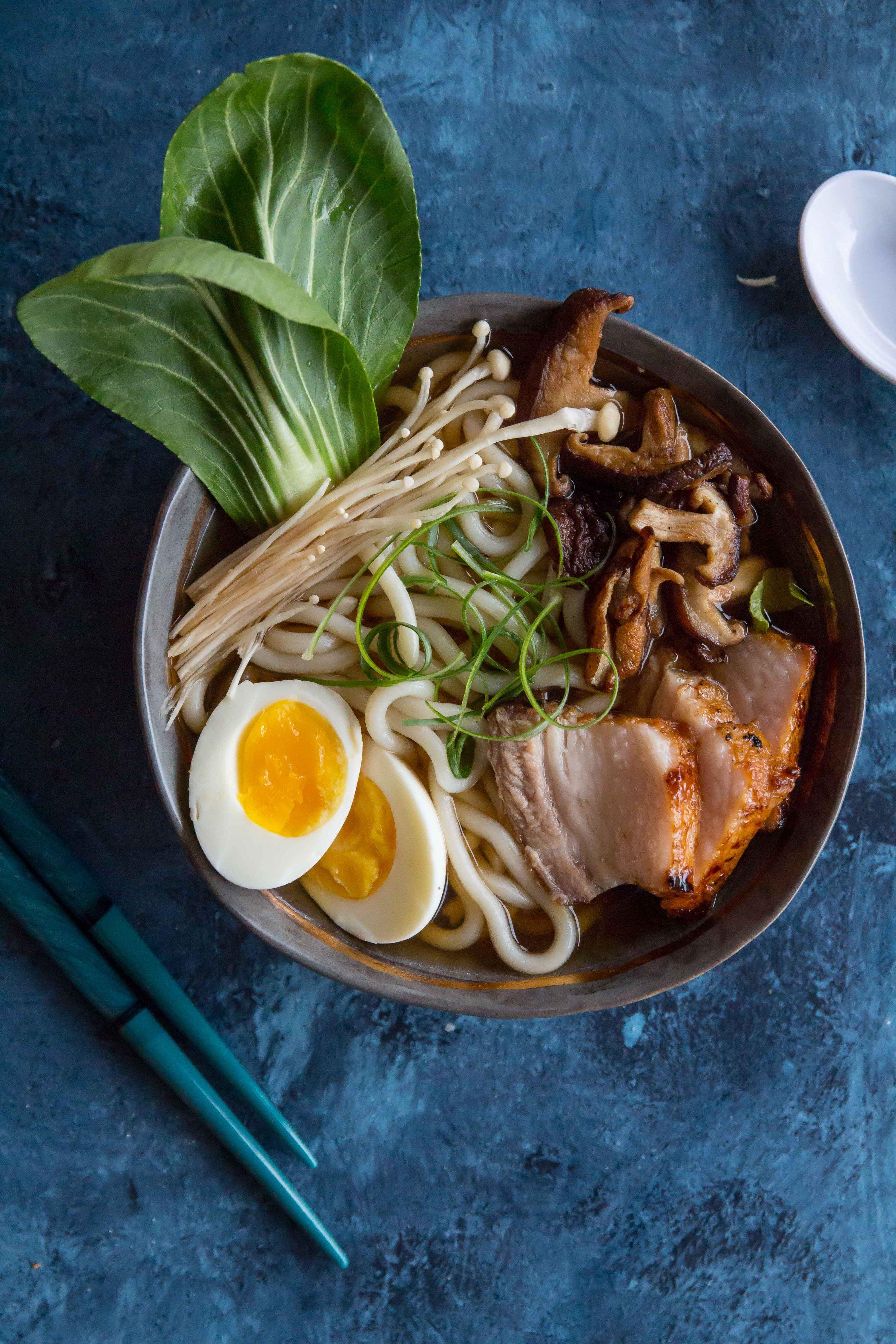 Quick Easy Pork Belly Udon Noodle Soup Le Petit Eats Recipe Pork Belly Easy Pork Udon Noodle Soup