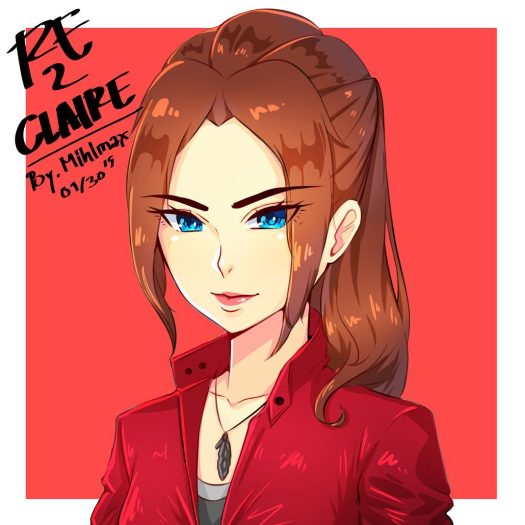Another Experiment Last Night On My Stream Xd Draw Fanart Claire From Re2 Xd Anime Chibi Claire Fanart Residentev Resident Evil Game Resident Evil Fan Art