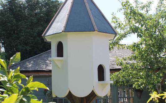 Dovecote birdhouse slate roof | Garden in the woods ...