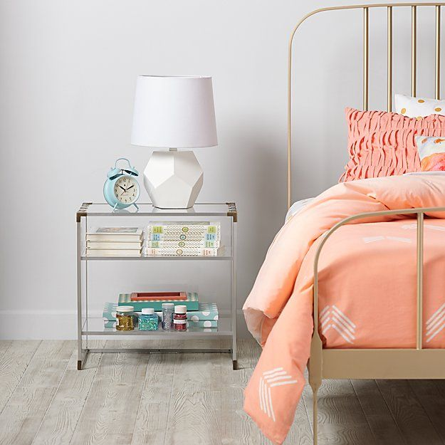 Crystal Clear Nightstand Nightstands and Decorating