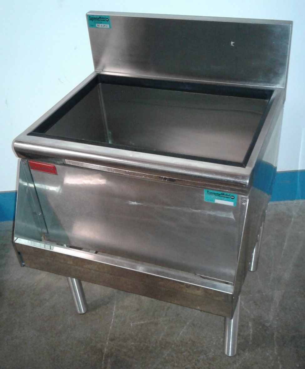 Prestige Under Bar Ice Bin With 8 Circuit Cold Plate Speed Rail