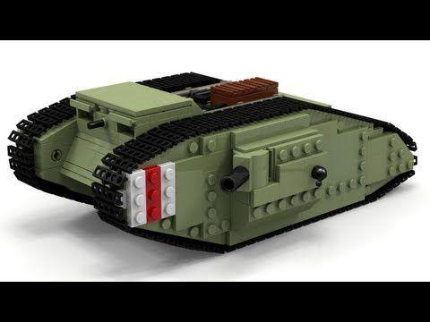 Lego Wwi Mark Iv Tank Instructions Youtube Lego Images For Blue