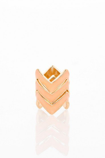 #ShopSosie                #ring                     #Stacking #Ring #Peach #ShopSosie.com               Zig Zag Stacking Ring Set in Peach - ShopSosie.com                            http://www.seapai.com/product.aspx?PID=985563