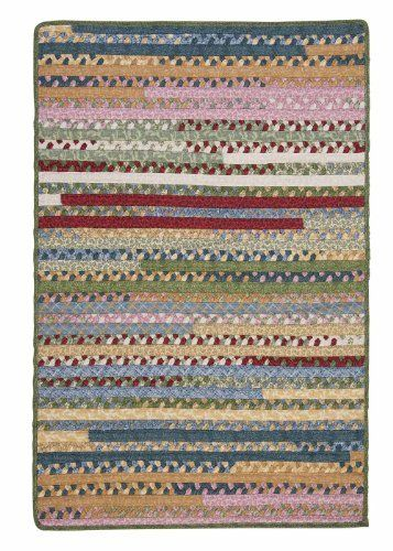 Braided Fabric Cotton Rug 12ft. x 15ft. Blue/Ivory Mix Colorful Carpet ** Be sure to check out this awesome product.