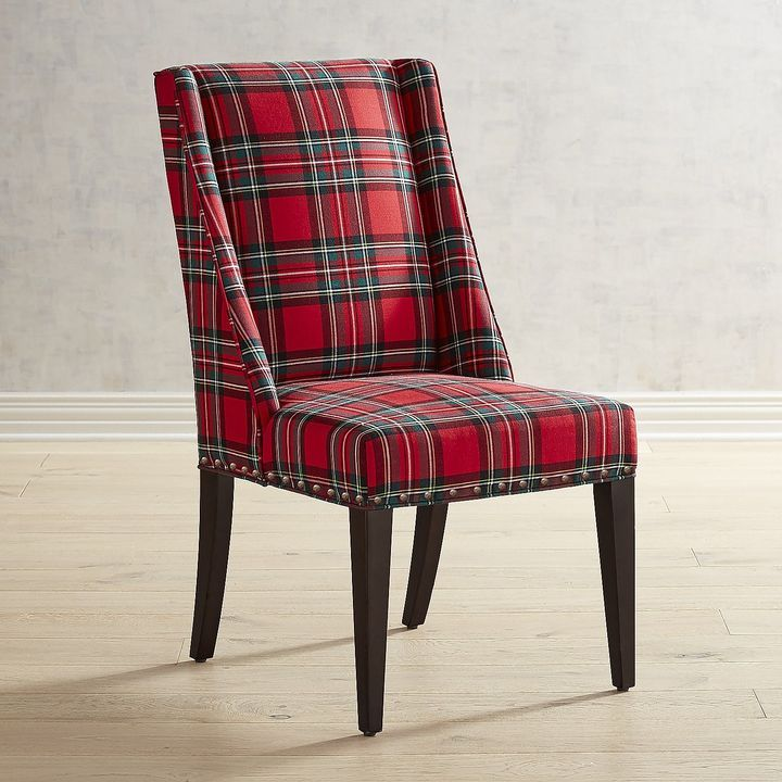 Pier 1 Imports Owen Red Plaid Heirloom Dining Chair In 2019