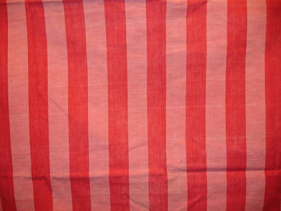 Mpy4 216 Offered Is A Fabulous And Very Cool Piece Of Used Vintage French Mattress Ticking Upholstery Fabric In Two Tone Red Stripes