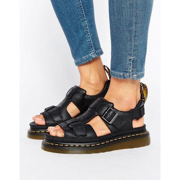 Dr Martens Hayden Grunge Black Leather T Bar Flat Sandals 150 Liked