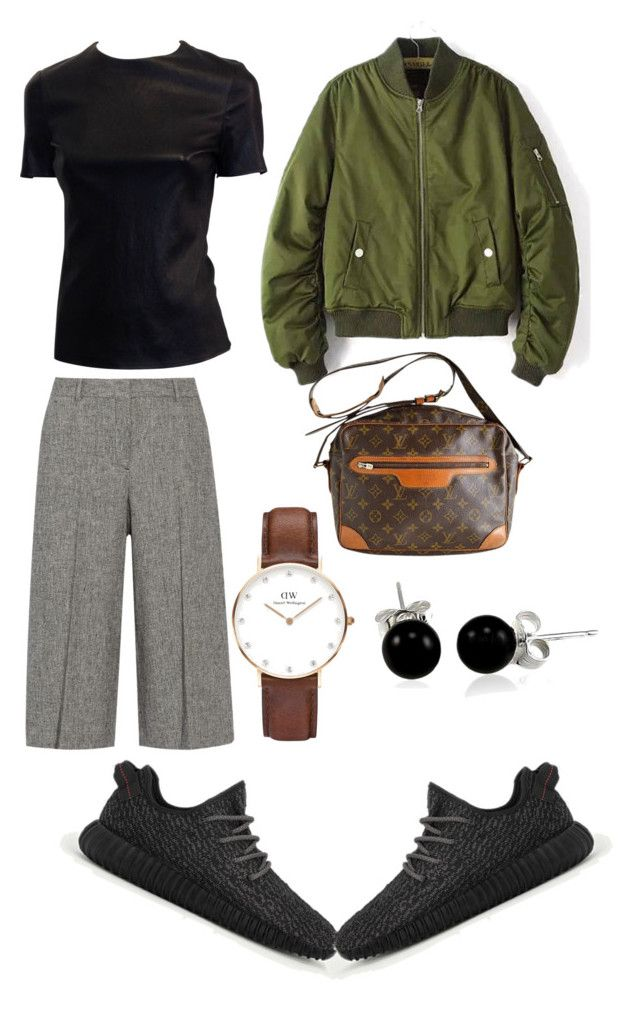"""""""street #3"""" by irdinamahirah on Polyvore featuring Theory, adidas, Daniel Wellington, Louis Vuitton and Bling Jewelry"""