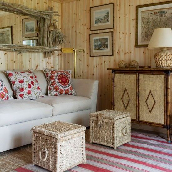 Natural wood-and-wicker living room | Small living rooms | Living room design ideas | PHOTO GALLERY | 25 Beautiful Homes | Housetohome.co.uk