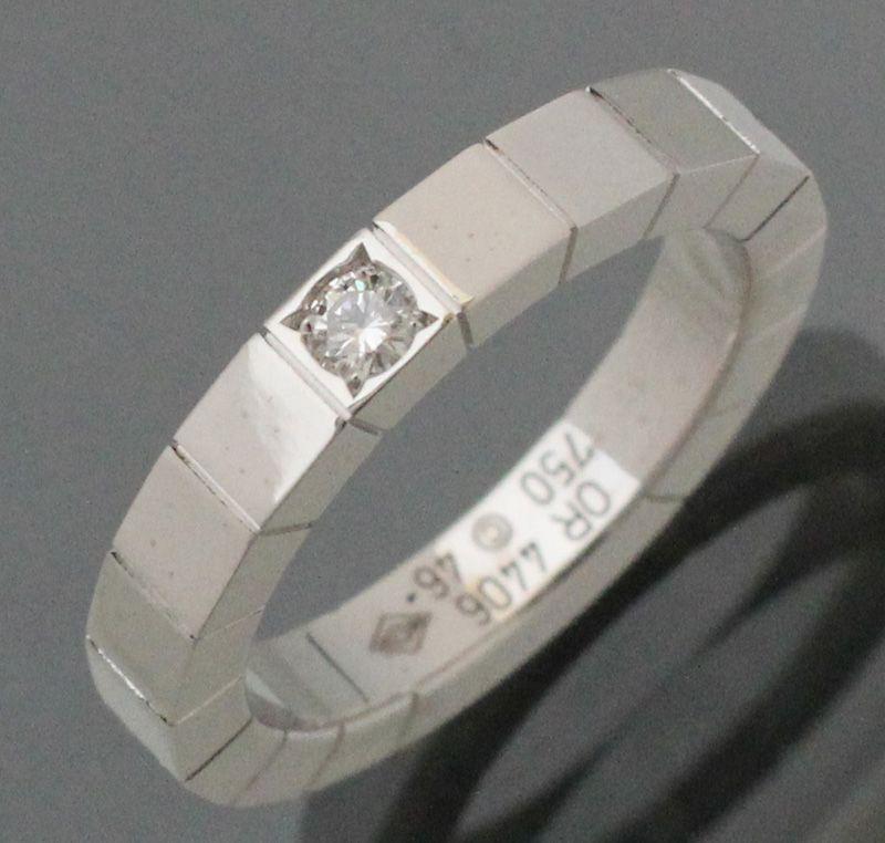 【 #Cartier #カルティエ #K18WG #ホワイトゴールド 1Pダイヤ #ラニエールリング #46】スクエア型の細かいカットでどの角度からもきれいに輝いて見えます。正面の「Cartier」ロゴとワンポイントダイヤのスッキリしたデザインで、普段使いにもお勧めです。画像をクリックして頂きますと、詳細ページをご覧頂けます。 #セブンマルイ質店 TEL06-6314-1005