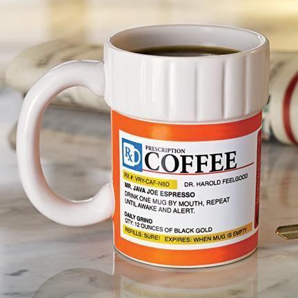 Prescription Coffee Mug from Fresh Finds on shop.CatalogSpree.com, your personal digital mall.
