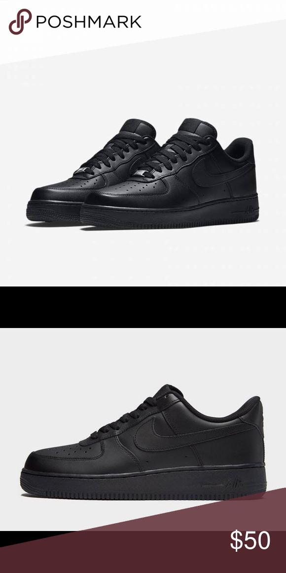 Black Nike Airforce 1 | Black nikes