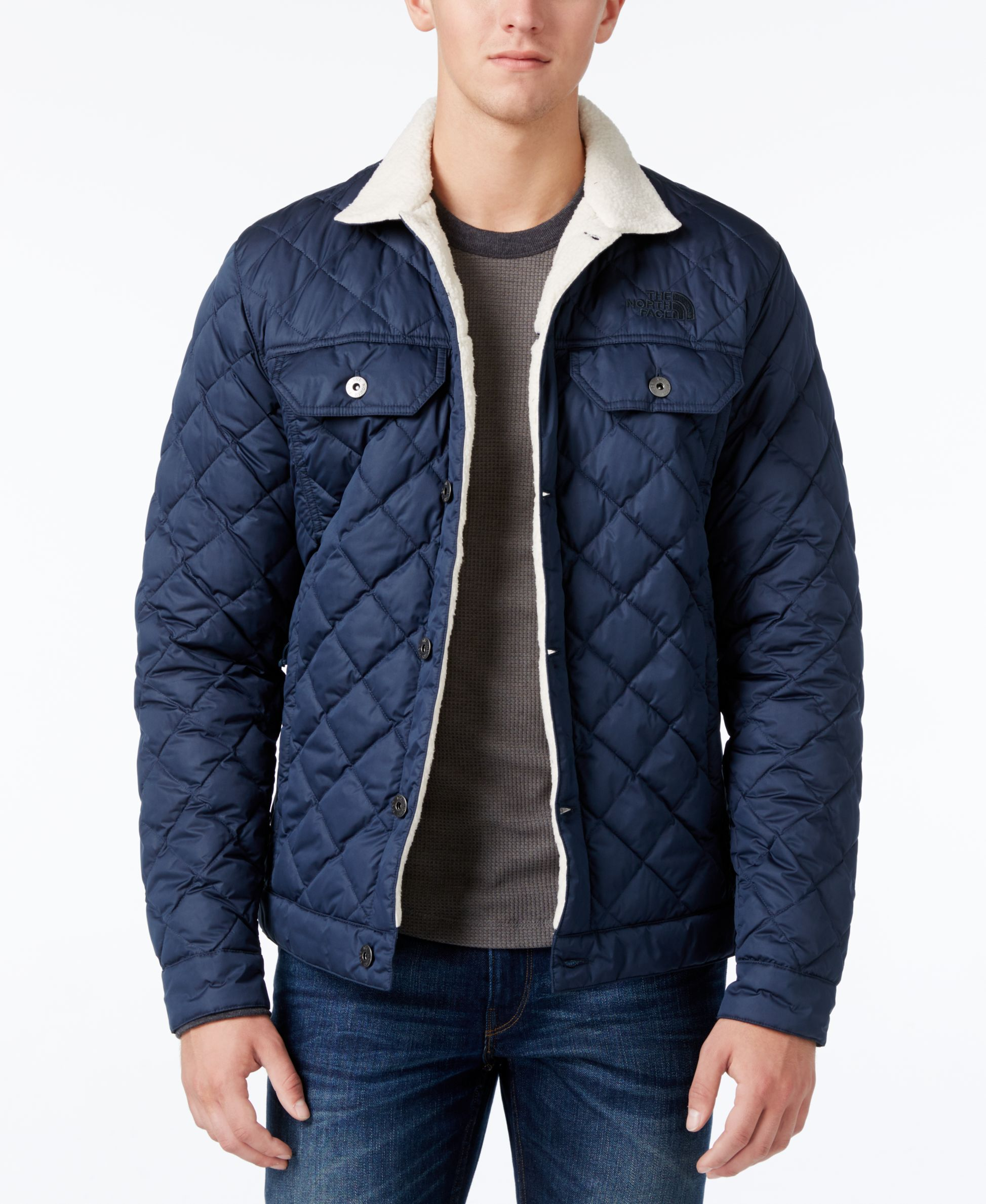1233394ad The North Face Men's Thermoball Jacket With Sherpa Lining | Clothing ...