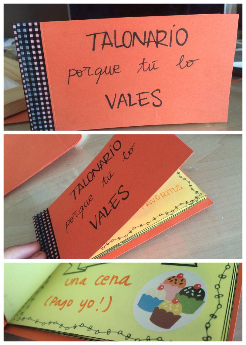 Check book. Talonario de vales.       You need:   - cardboard (outside)…