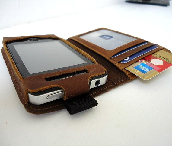 genuine full leather case fit Iphone 4 4S 3G 3S  by shopleather, $19.99